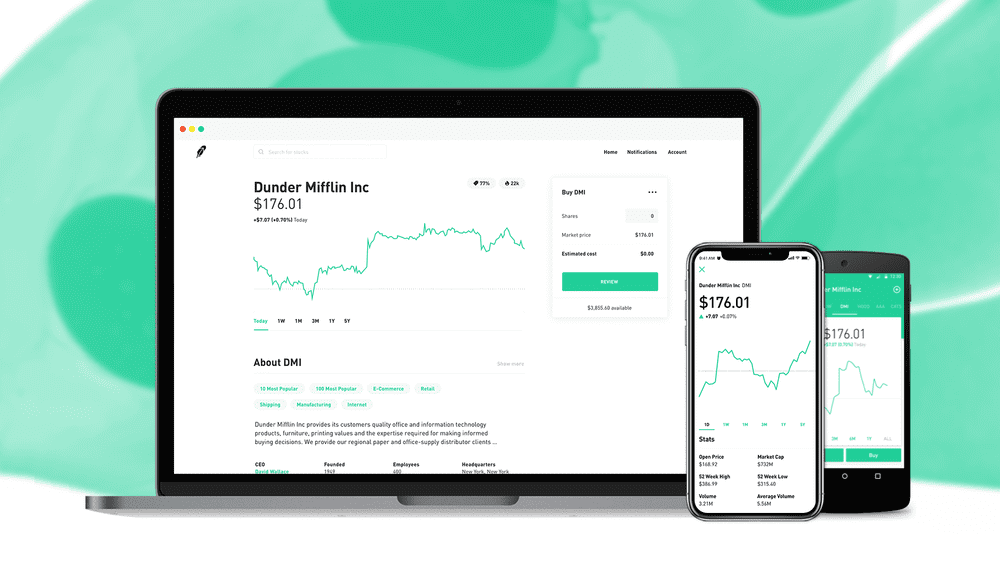 On Finance Commission-Free Investing Robinhood